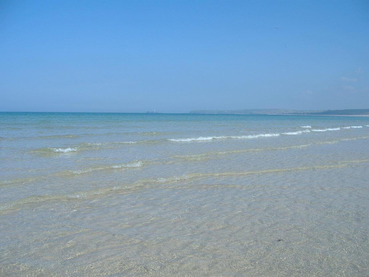 warmest waters in uk