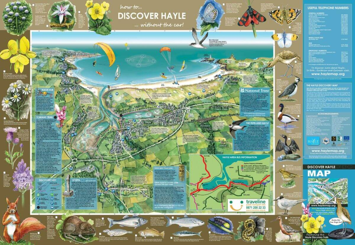 Hayle & St Ives Bay Map