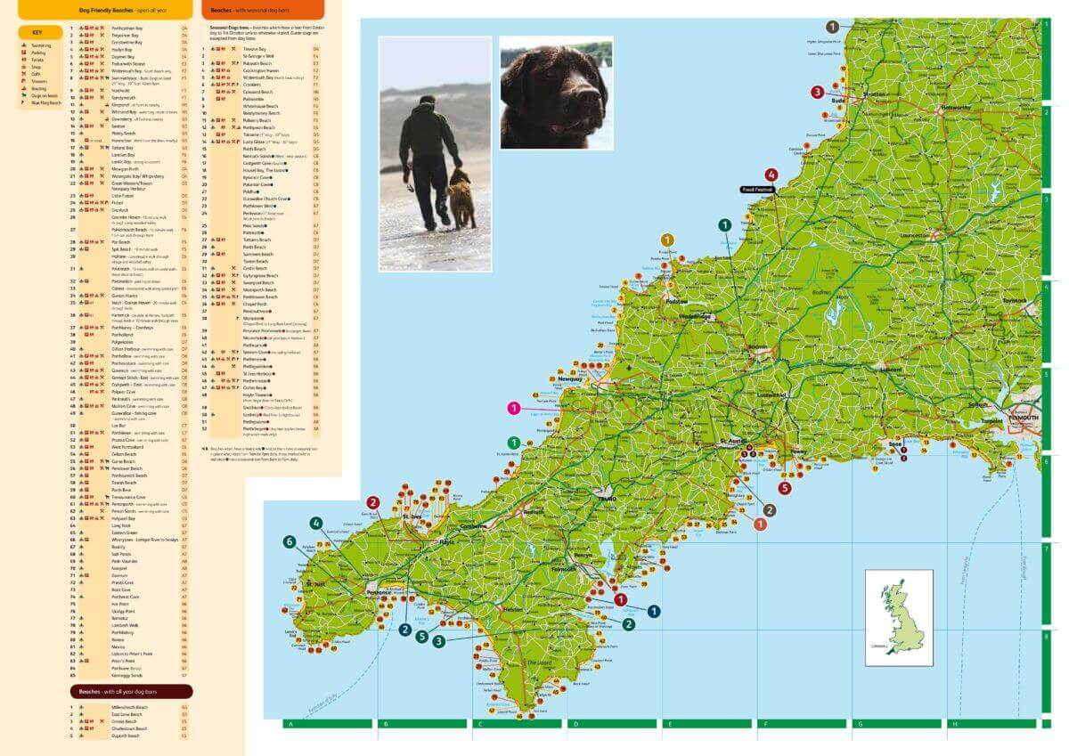 Cornwall Dog Guide Map