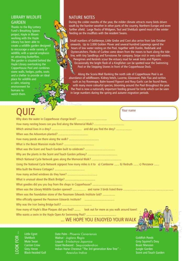 Copperhouse Family Trail Quiz
